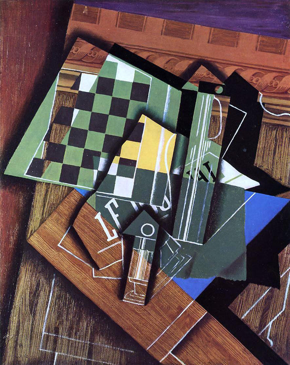 Juan Gris The Checkerboard - Canvas Art Print