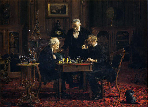 Thomas Eakins The Chess Player - Canvas Art Print