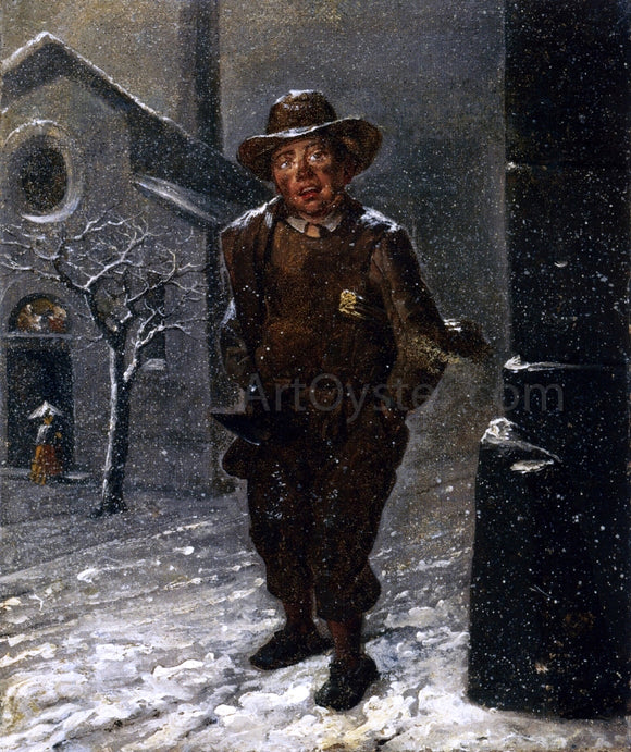 Angelo Inganni The Chimney Sweep - Canvas Art Print