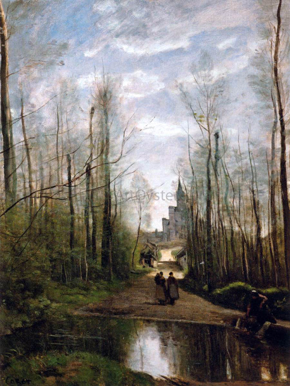 Jean-Baptiste-Camille Corot The Church of Marissel, near Beauvais - Canvas Art Print