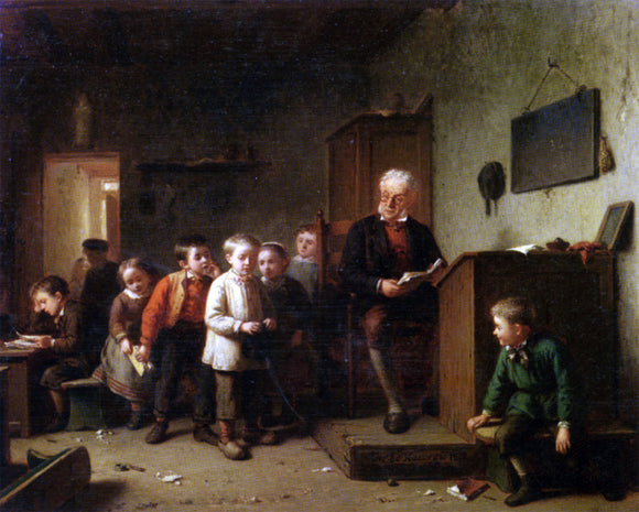 Theodore Bernardde Heuvel The Classroom - Canvas Art Print
