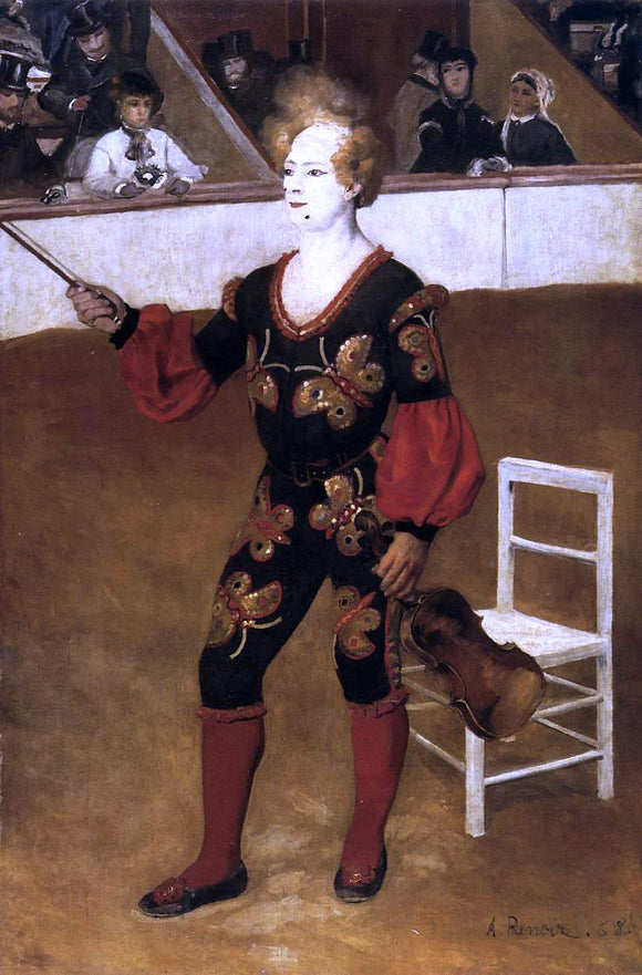 Pierre Auguste Renoir The Clown (also known as James Bollinger Mazutreek) - Canvas Art Print