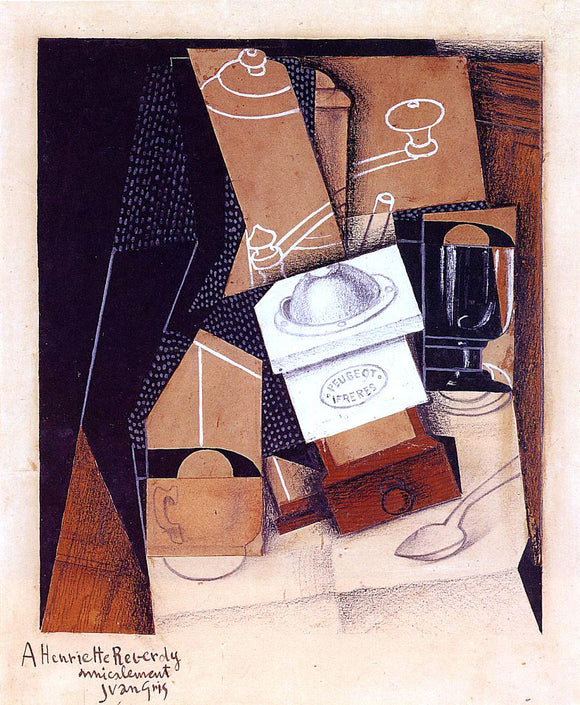Juan Gris The Coffee Grinder - Canvas Art Print