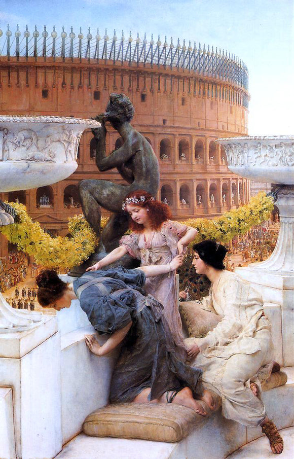 Sir Lawrence Alma-Tadema The Coliseum - Canvas Art Print