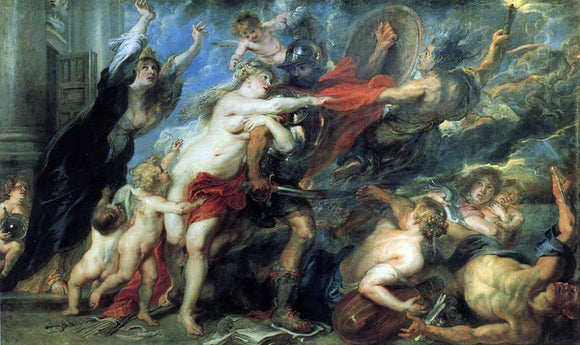 Peter Paul Rubens The Consequences of War - Canvas Art Print