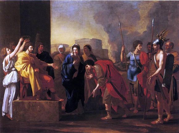 John Smibert The Continence of Scipio (after Nicholas Poussin) - Canvas Art Print