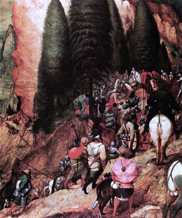 The Elder Pieter Bruegel The Conversion of Saul (detail) - Canvas Art Print