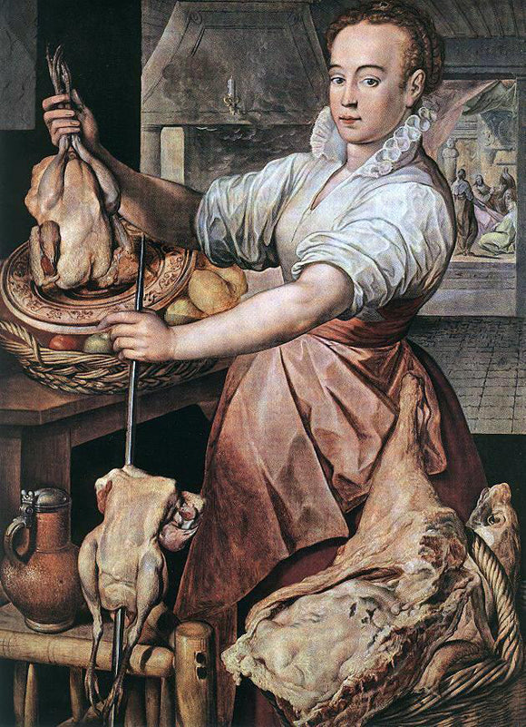 Joachim Beuckelaer The Cook - Canvas Art Print