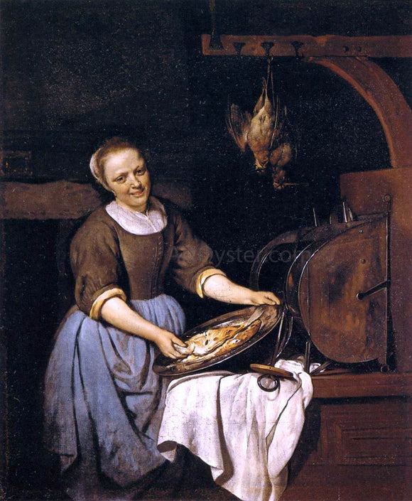 Gabriel Metsu The Cook - Canvas Art Print