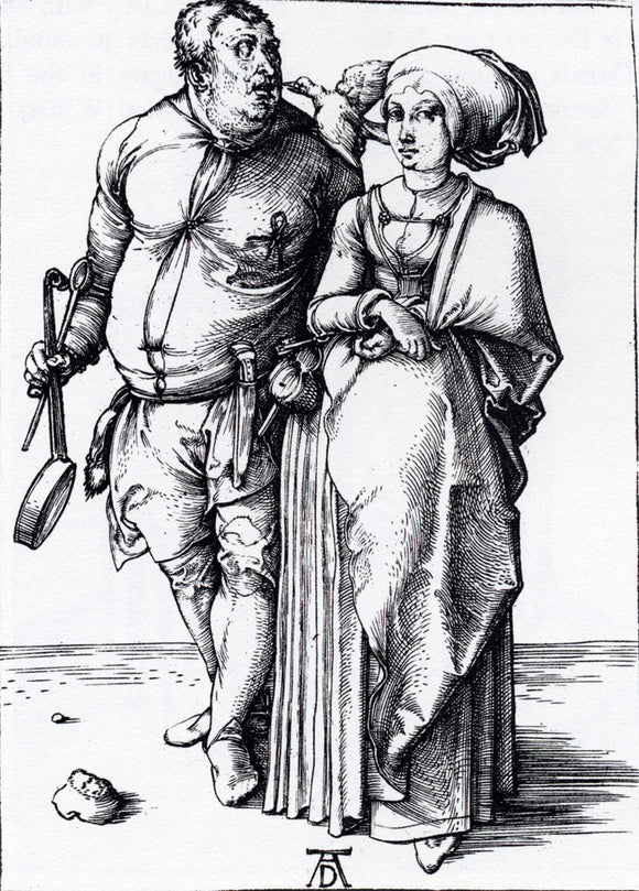 Albrecht Durer The Cook And His Wife - Canvas Art Print