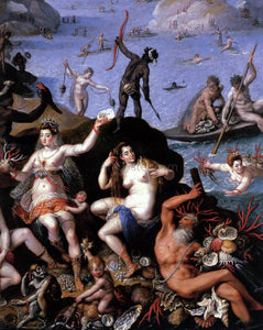 Jacopo Zucchi The Coral Fishers (detail) - Canvas Art Print