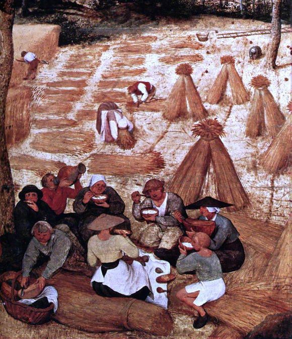 The Elder Pieter Bruegel The Corn Harvest (detail) - Canvas Art Print