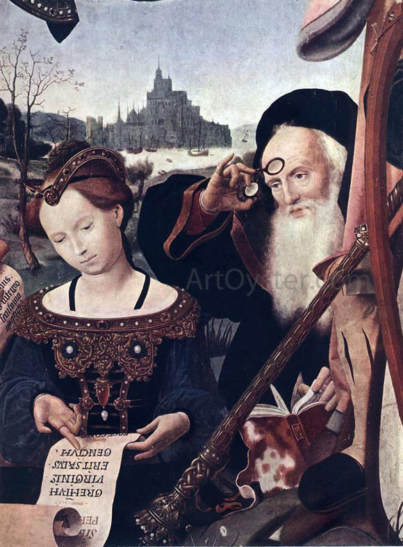 Jan Provost The Coronation of the Virgin (detail) - Canvas Art Print