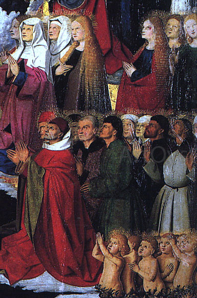 Enguerrand Charonton The Coronation of the Virgin, detail: the crowd - Canvas Art Print