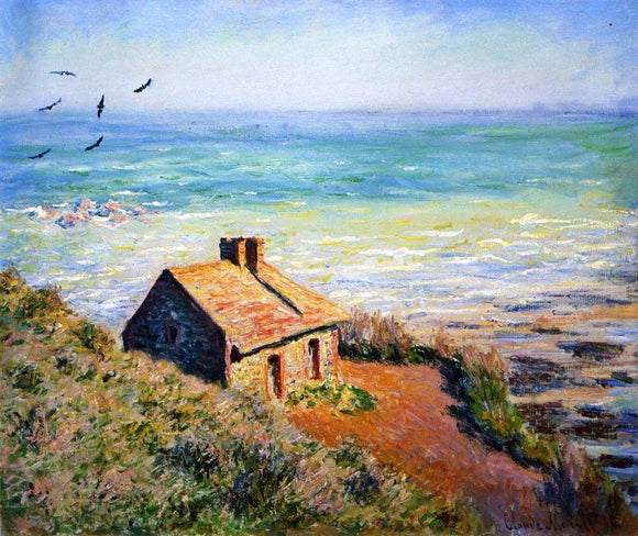 Claude Oscar Monet A Costoms House, Morning Effect - Canvas Art Print