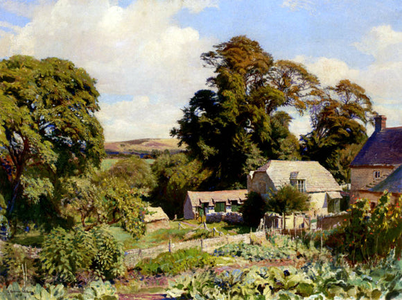 George Spencer Watson The Cottage Garden - Canvas Art Print