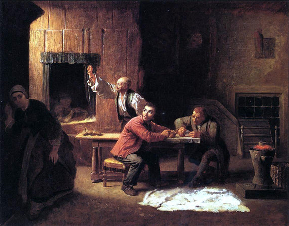 Eastman Johnson The Counterfeiters - Canvas Art Print