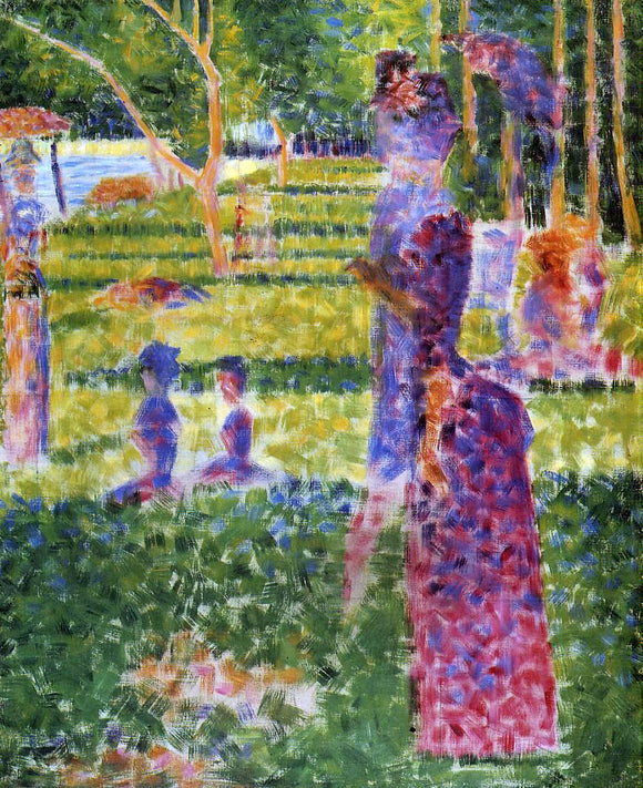 Georges Seurat The Couple - Canvas Art Print