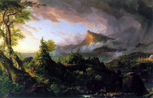 Thomas Cole The Course of the Empire: The Savage State - Canvas Art Print