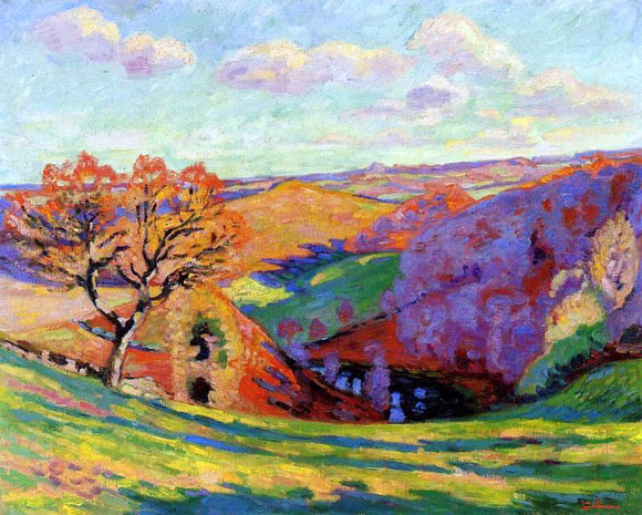 Armand Guillaumin The Creuse at Crozant - Canvas Art Print