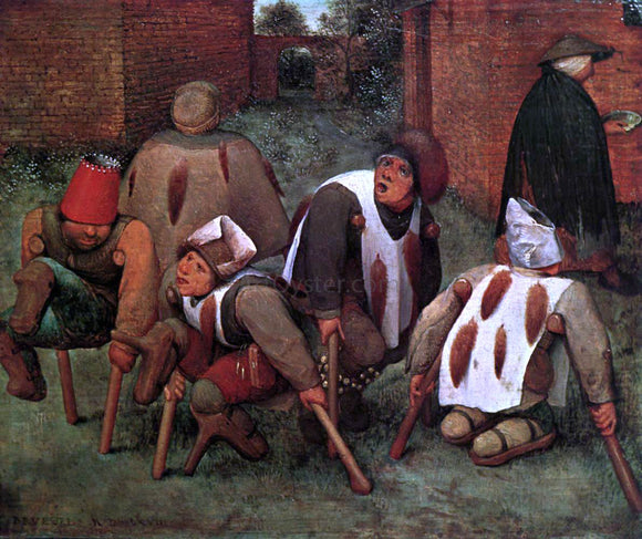 The Elder Pieter Bruegel The Cripples - Canvas Art Print