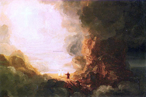 Thomas Cole The Cross and the World: Study for 'The Pilgrim of the Cross at the End of His Journey' - Canvas Art Print