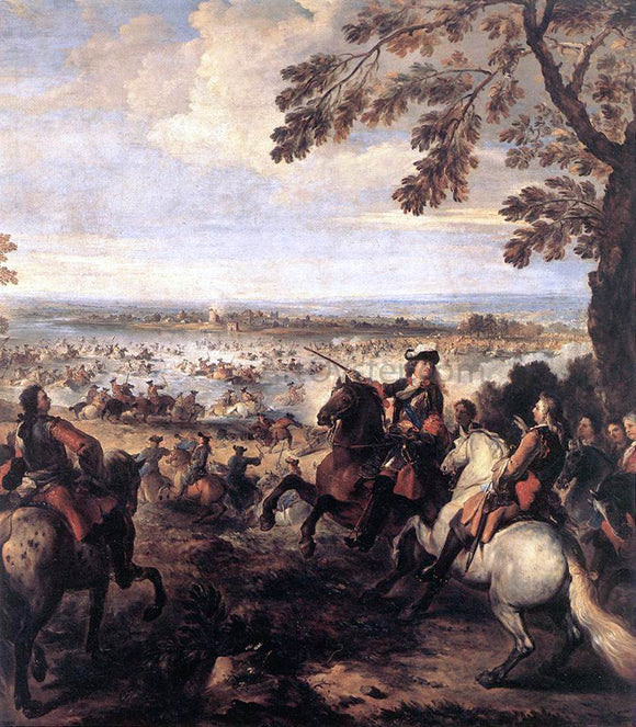 Joseph Parrocel The Crossing of the Rhine by the Army of Louis XIV, 1672 - Canvas Art Print
