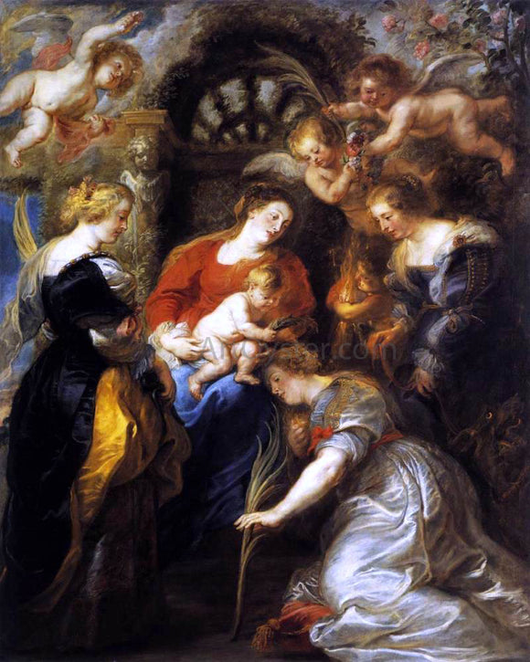 Peter Paul Rubens The Crowning of St Catherine - Canvas Art Print