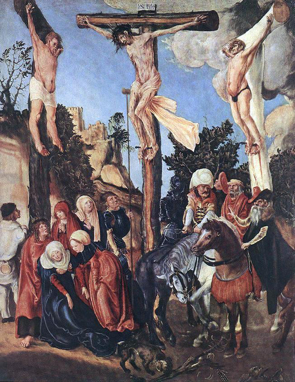 The Elder Lucas Cranach The Crucifixion - Canvas Art Print