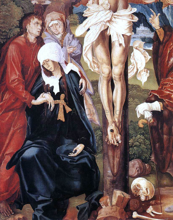 Master M S The Crucifixion (detail) - Canvas Art Print