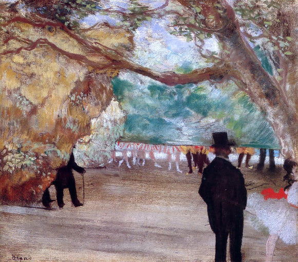 Edgar Degas The Curtain - Canvas Art Print