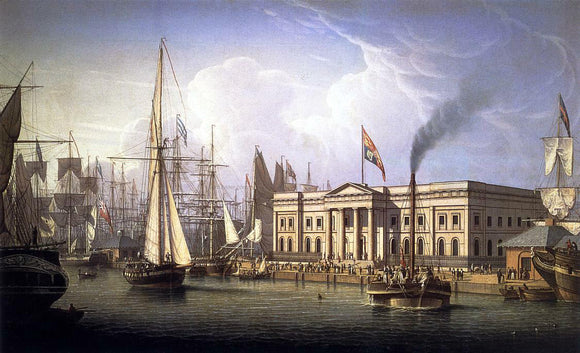 Robert Salmon The Custom House Quay, Greenock, Scotland - Canvas Art Print