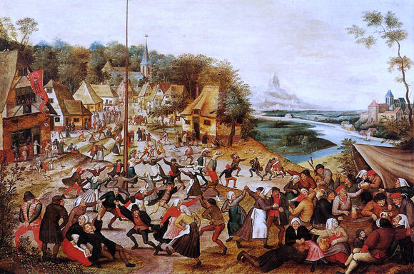 The Younger Pieter Bruegel The Dance around the May Pole - Canvas Art Print