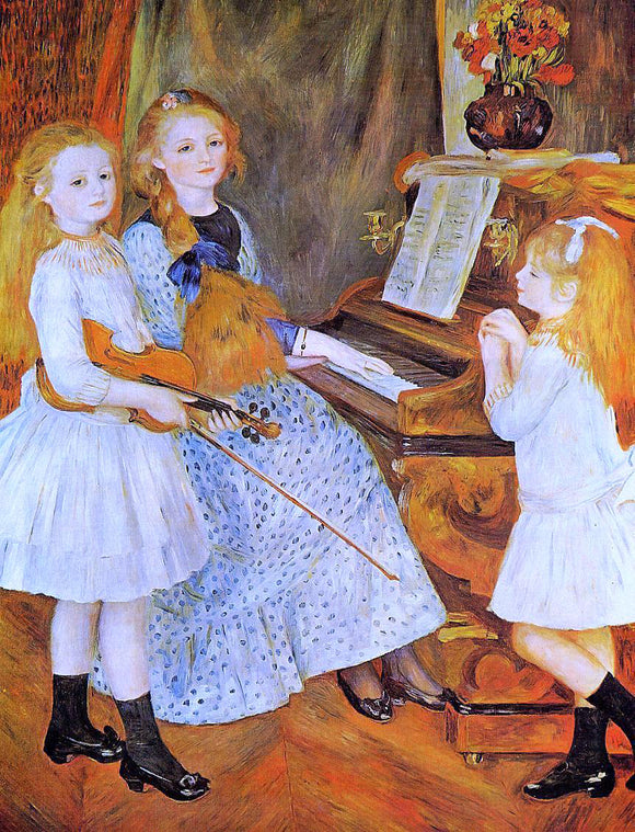 Pierre Auguste Renoir The Daughters of Catulle Mendes - Canvas Art Print