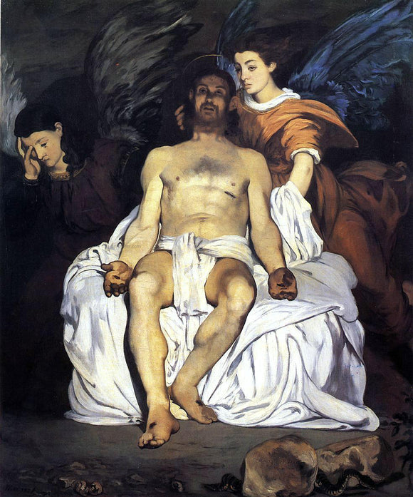 Edouard Manet The Dead Christ and the Angels - Canvas Art Print