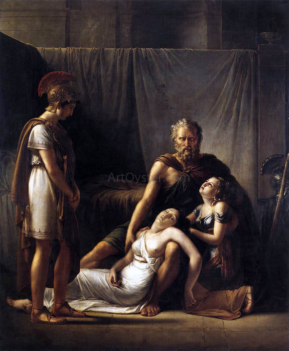 Francois-Joseph Kinsoen The Death of Belisarius' Wife - Canvas Art Print