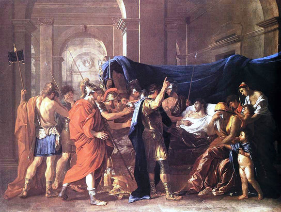 Nicolas Poussin The Death of Germanicus - Canvas Art Print