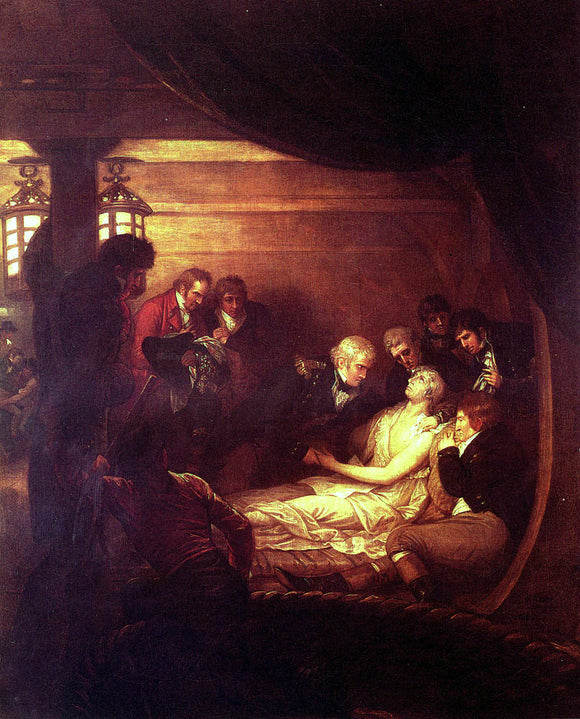 Benjamin West The Death Of Nelson - Canvas Art Print