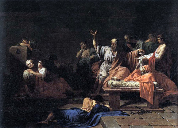 Jean-Francois-Pierre Peyron The Death of Socrates - Canvas Art Print