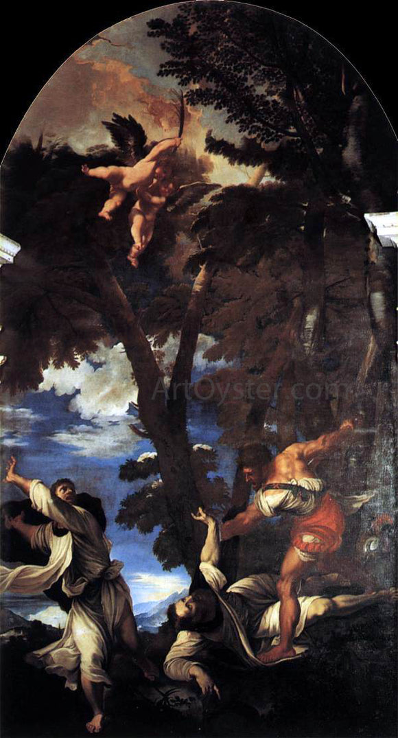 Titian The Death of St Peter Martyr - Canvas Art Print