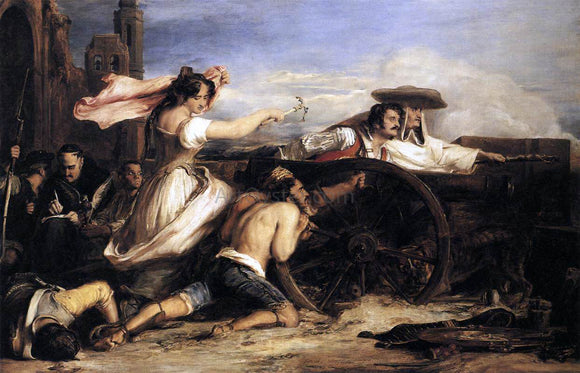 Sir David Wilkie The Defence of Saragossa - Canvas Art Print