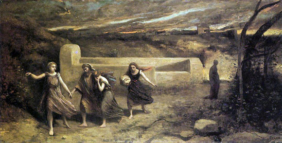 Jean-Baptiste-Camille Corot The Destruction of Sodom - Canvas Art Print