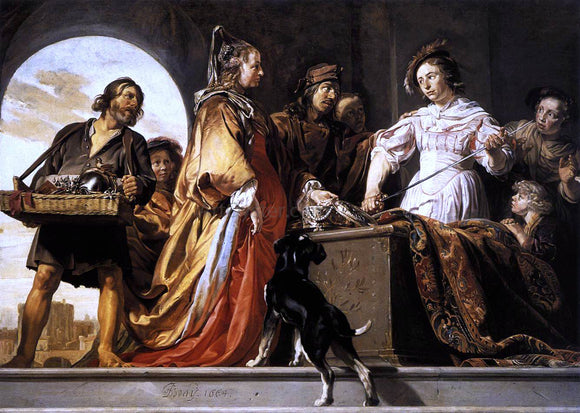Jan De Bray The Discovery of Achilles Among the Daughters of Lycomedes - Canvas Art Print