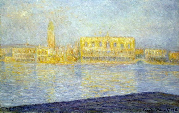 Claude Oscar Monet The Doges' Palace Seen from San Giorgio Maggiore - Canvas Art Print