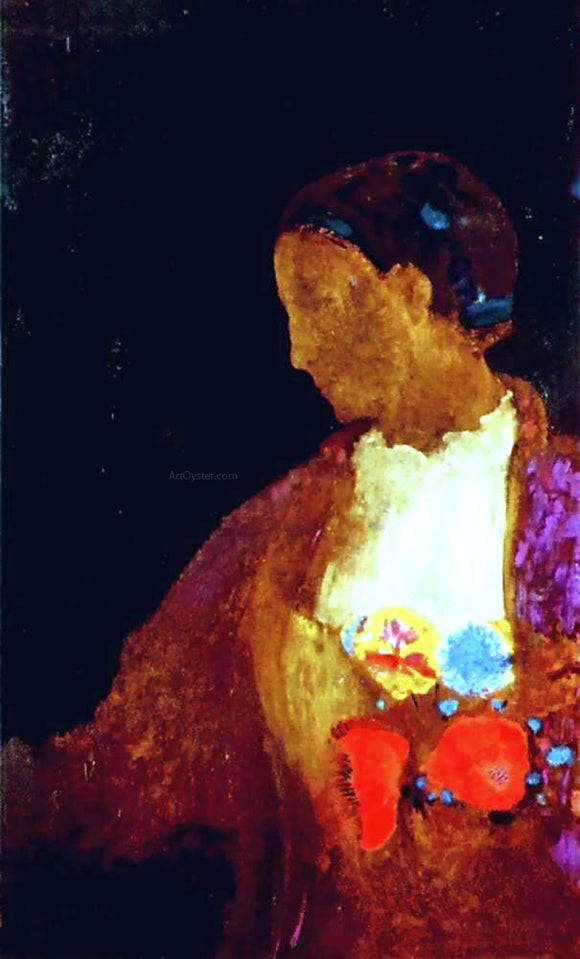 Odilon Redon The Doge's Wife - Canvas Art Print