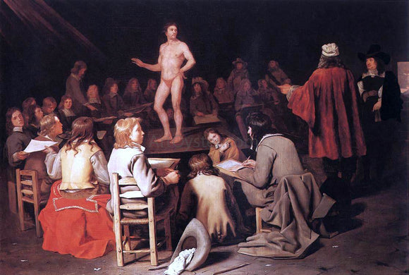 Michiel Sweerts The Drawing Class - Canvas Art Print