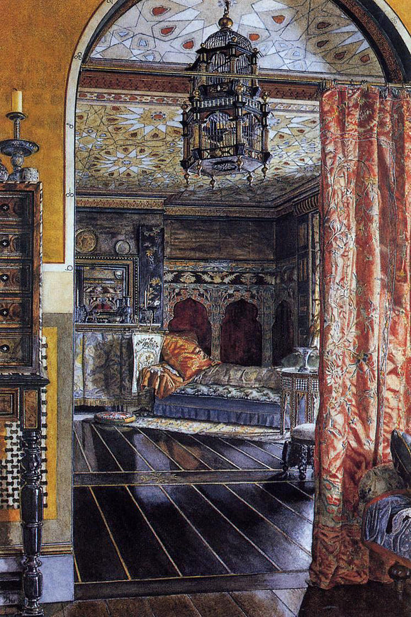 Sir Lawrence Alma-Tadema The Drawing Room at Townshend House - Canvas Art Print