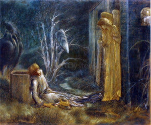 Sir Edward Burne-Jones The Dream of Lancelot (Study) - Canvas Art Print