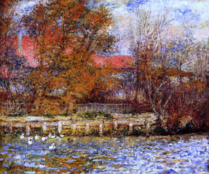 Pierre Auguste Renoir The Duck Pond - Canvas Art Print