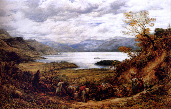 John Linnell The Emigrants, Derwent Water, Cumberland - Canvas Art Print